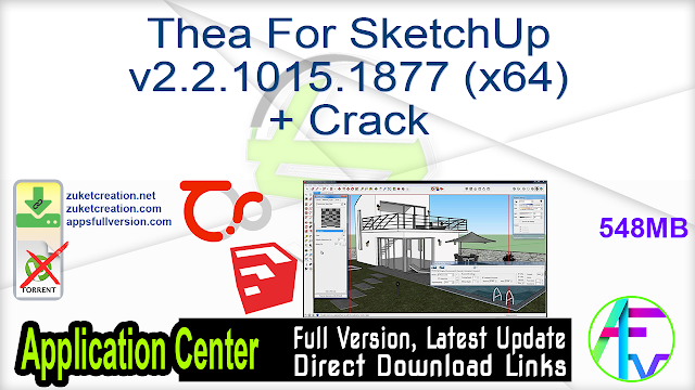 Thea For SketchUp v2.2.1015.1877 (x64) + Crack