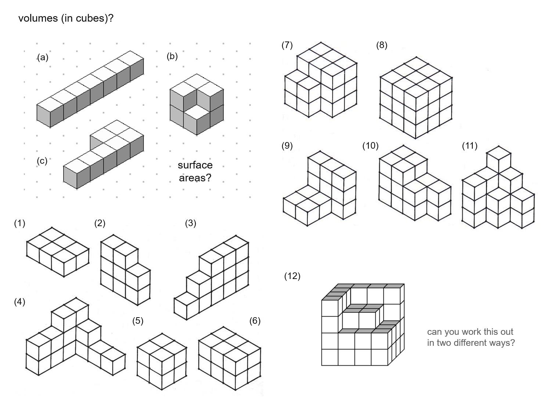 MEDIAN Don Steward mathematics teaching: easy cube buildings