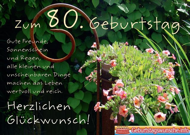 Geburtstagswünsche zum 80.