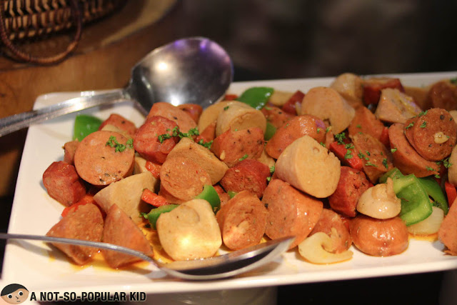 Spanish sausages appetizer