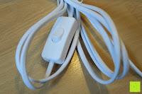 Schalter: kwmobile E27 Lampenfassung 3,5m Weiß - Netzkabel mit Schraubring Schalter - Lampenhalter und Kabel - Pendelleuchte - Lampenaufhängung - Hängeleuchte
