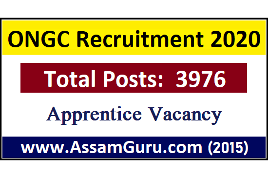 ONGC Recruitment 3976 Posts