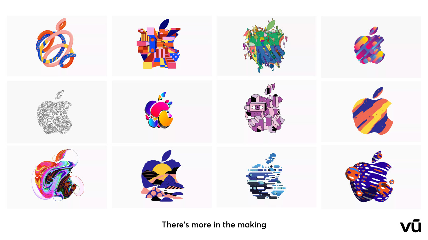 """Apple đã """"biến tấu"""" màu logo để mỗi khách hàng sở hữu một hình ảnh riêng"""