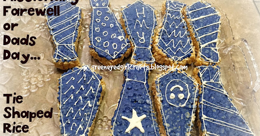 MIssionary Farewell or Dad's Day Tie Shaped Rice Krispie Treats