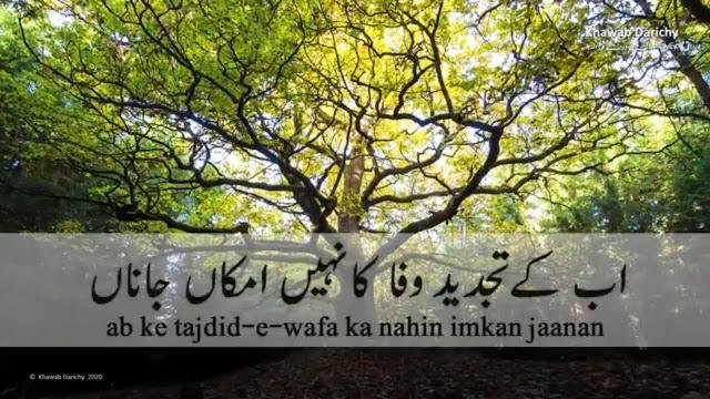 Ab ke tajdeed-e-wafa ka nahi imkaan jana - Ahmad Faraz