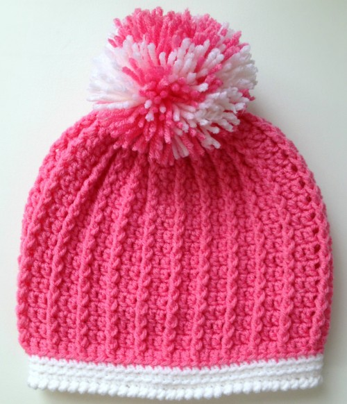 Ribbed Pre-School Size Hat - Free Pattern