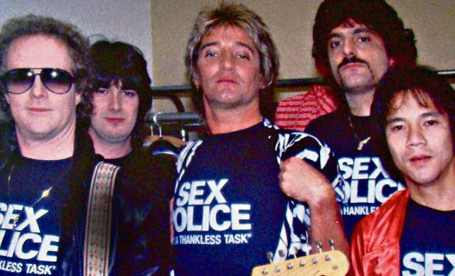 'SEX POLICE' t-shirt as worn by Rob Stewart and his band, including his drummer Carmine Appice. PYGear.com