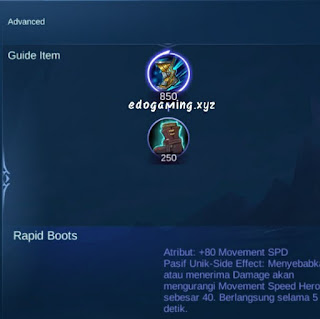 penjelasan lengkap item mobile legends item rapid boots