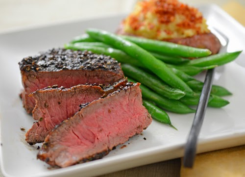 Green Peppercorn Encrusted Manhattan Filet