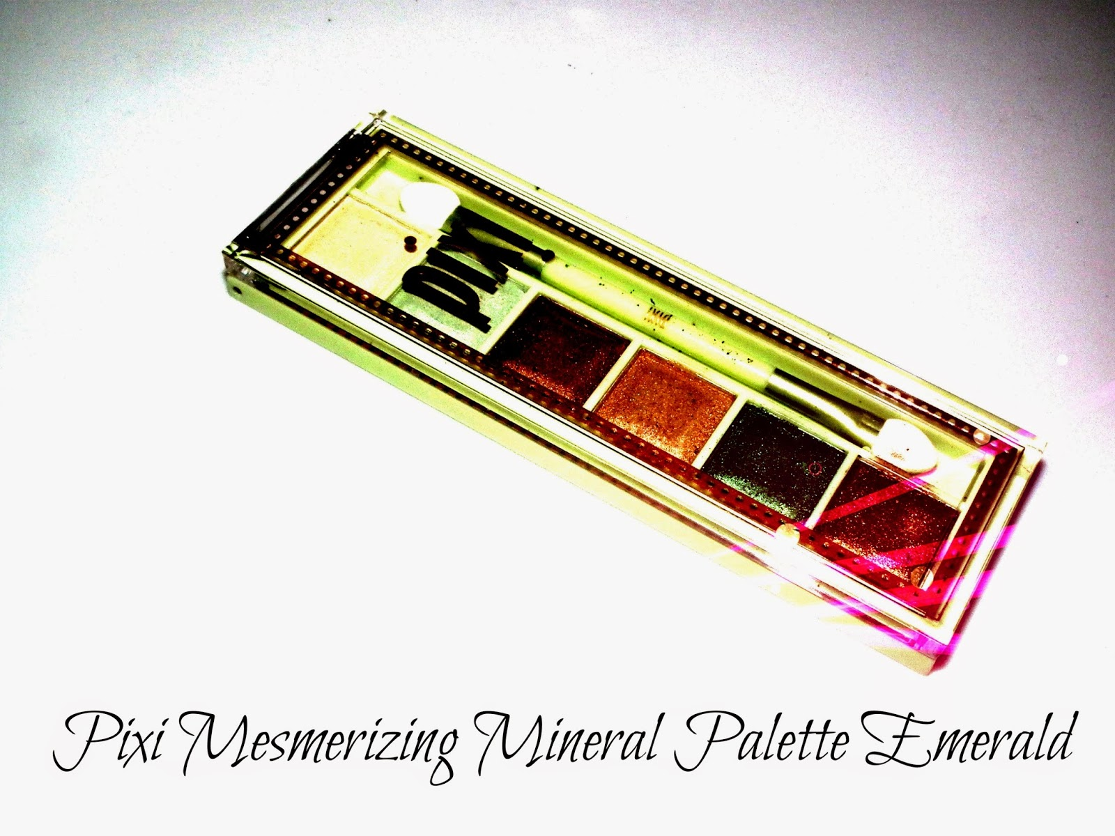 Pixi Mesmerizing Mineral Palette Emerald Swatches