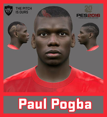 PES 2016 Paul Pogba Face by Ozy_96 PESMOD