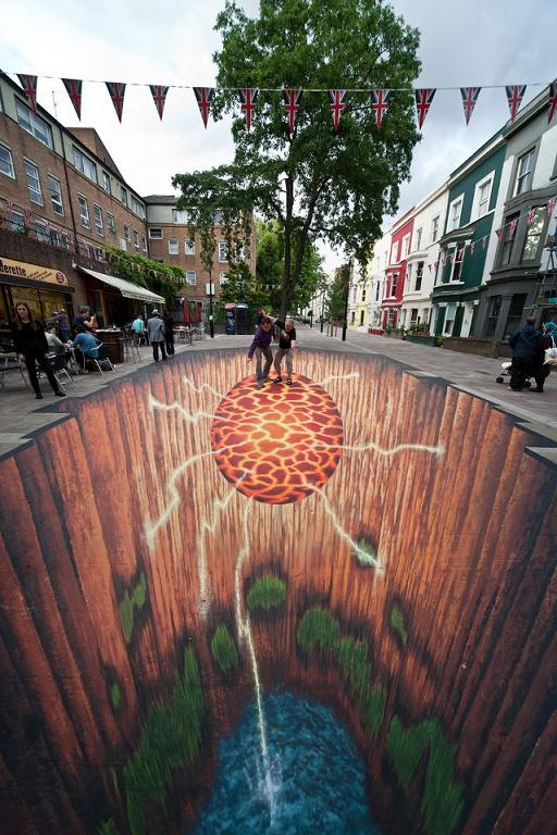 11 Most Amazing 3D Street Art Illusions