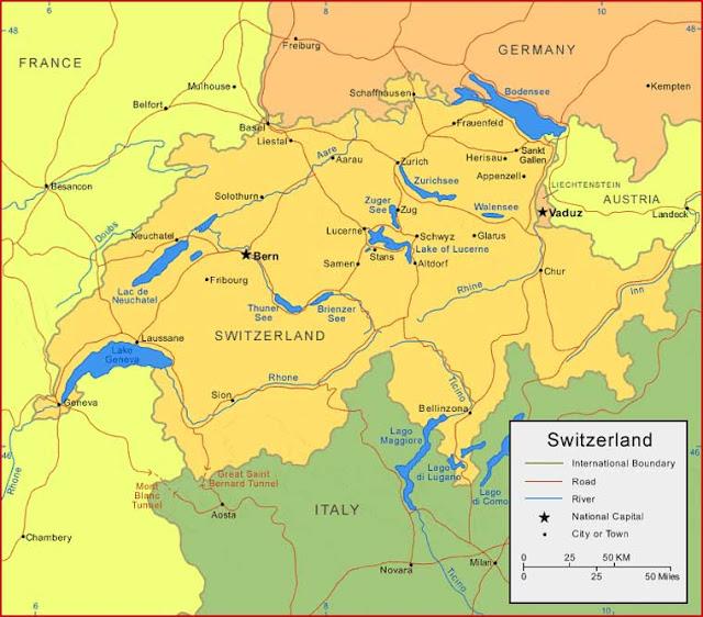 Gambar Peta Swiss