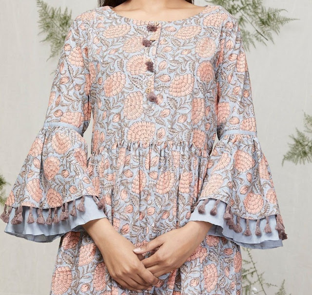 50 Latest sleeves design for kurti to try in 2019  49c678e43ab