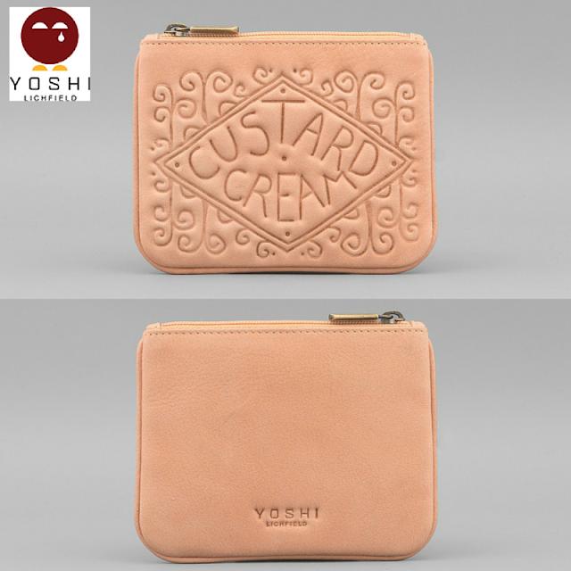 Custard Cream Leather Coin Purse from Yoshi Bags