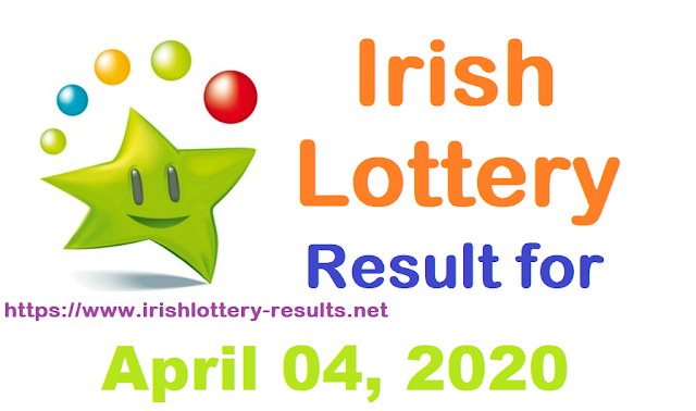 Irish Lottery Results for Saturday, April 04, 2020