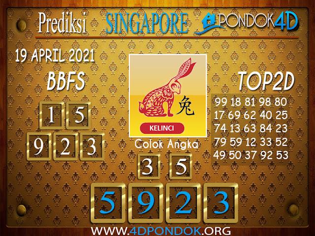 Prediksi Togel SINGAPORE PONDOK4D 19 APRIL 2021