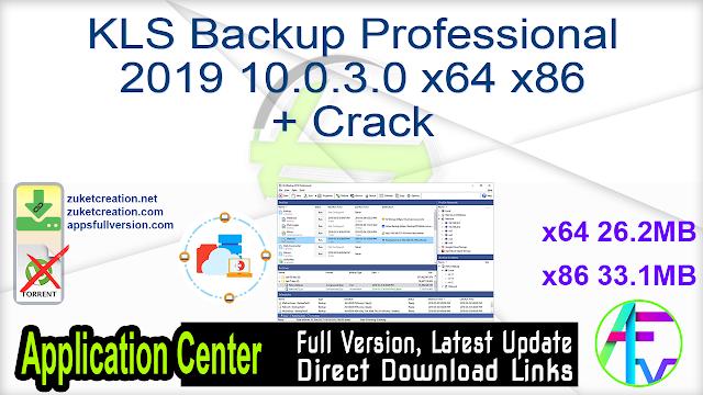 KLS Backup Professional 2019 10.0.3.0 x64 x86 + Crack