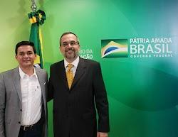 Secretário de educação Magno Melo participa da assinatura do protocolo interministerial em Brasília