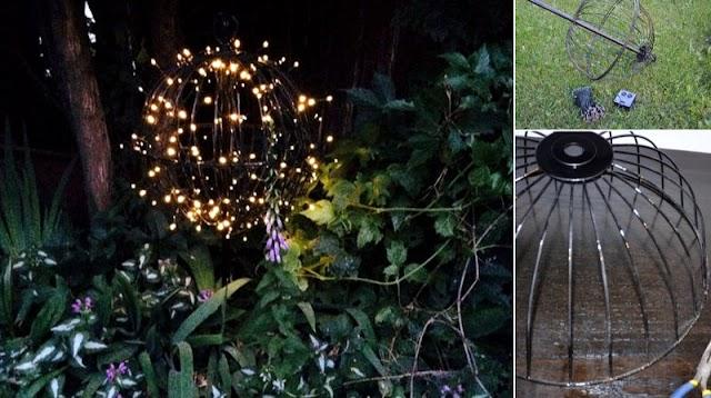 Φωτεινές Μπάλες με ηλιακά Led για Κήπο-Μπαλκόνι