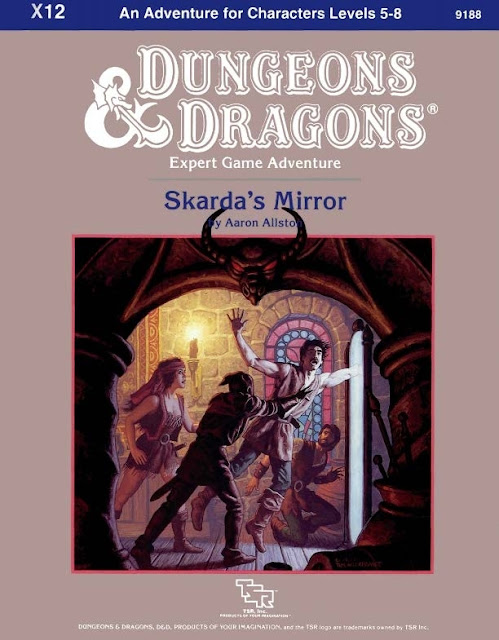 Retro Review X12 Skarda's Mirror By Aaron Allston For OD&D & Your Old School Campaigns