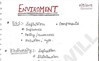 Environment Handwritten Notes PDF. This Environment Notes PDF is very helpful for SSC, UPSC, Bank, Railway Exams and other competitive exams