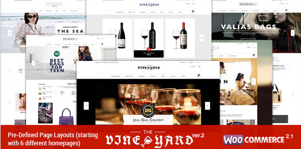 Download Wine STORE v.2.3 | Responsive WooComerce Theme Free