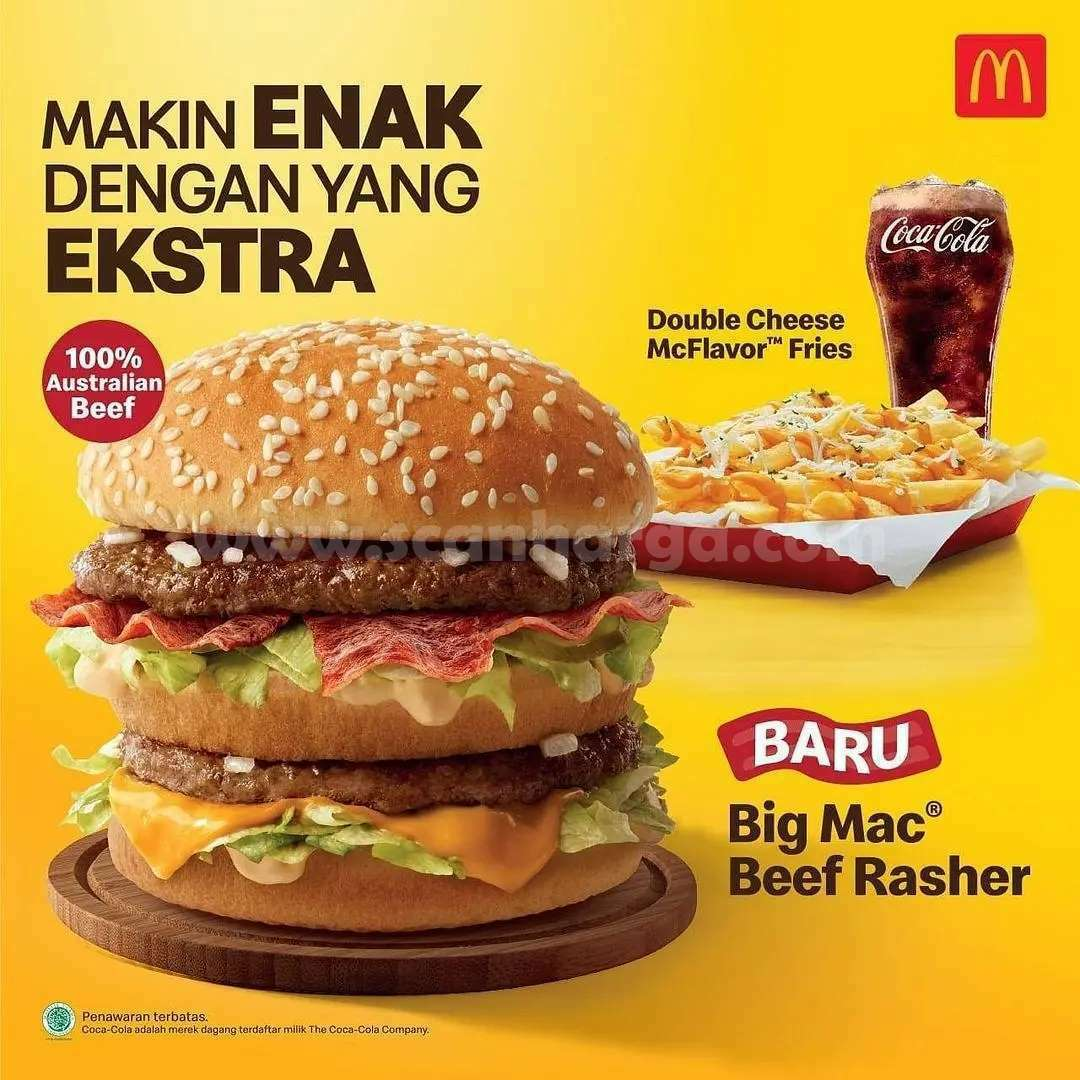 McDonalds Big Mac Beef Rasher harga mulai Rp. 23.000