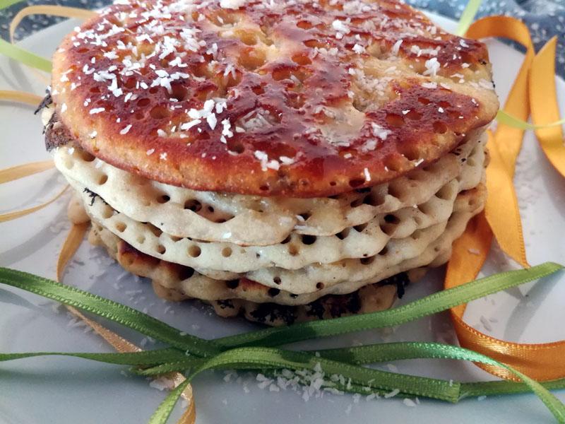 Pancake con farina di mais e sciroppo di agave