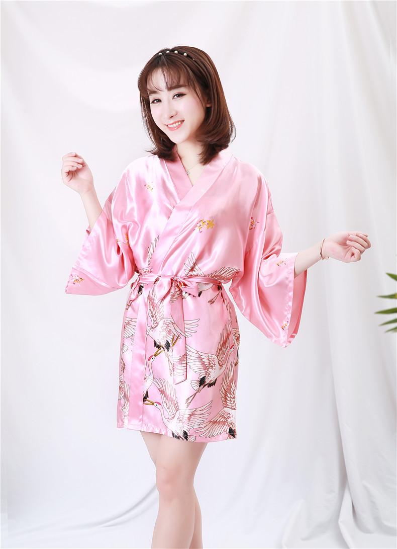 Áo choàng tắm, áo khoác ngủ nữ phi lụa sang trọng 8