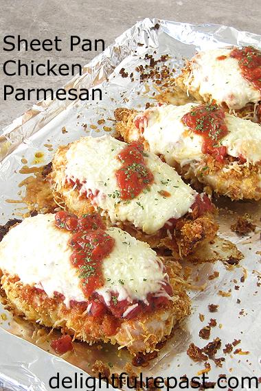 Sheet Pan Chicken Parmesan / www.delightfulrepast.com