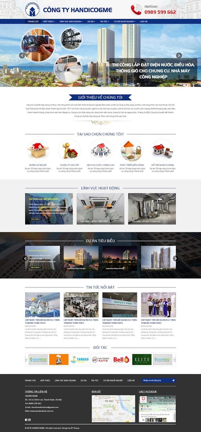 Mẫu website giới thiệu dịch vụ