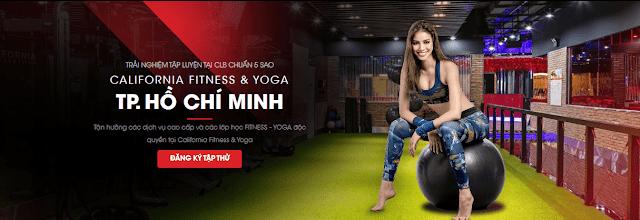 Phòng tập California Gym đang hoạt động tại thành phố Hồ Chí Minh