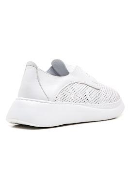 %100 deri sneaker bayan modeli