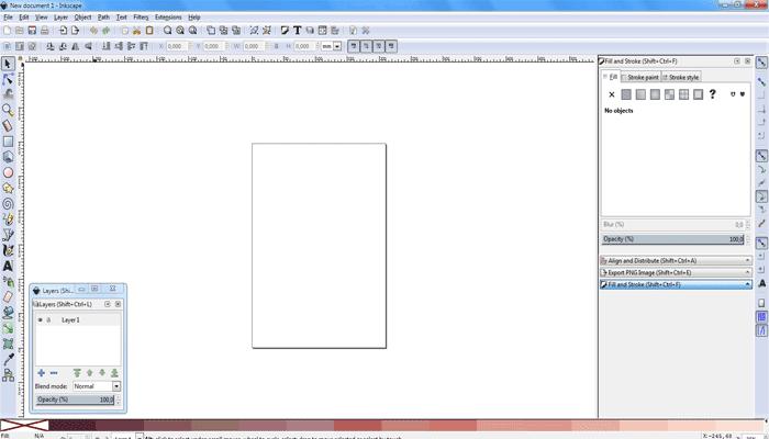 Setting Awal Sebelum Membuat Vector Portrait di Inkscape