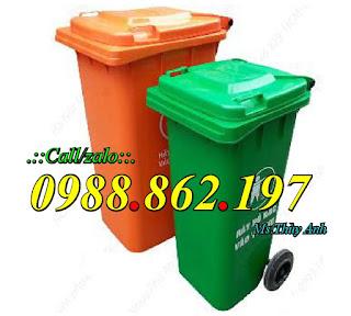Thùng rác HDPE y tế 120 lít, thùng rác HDPE y tế 240 lít thùng rác nhựa  composite 120 lít,