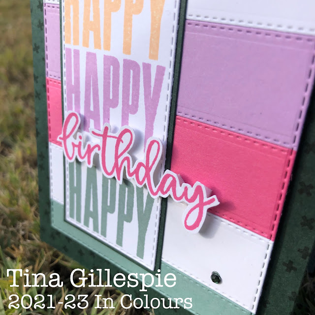 scissorspapercard, Stampin' Up!, Colour Creations, Biggest Wish, Ornate Layers Dies, Stitched Rectangles Dies, Stampin' Blends