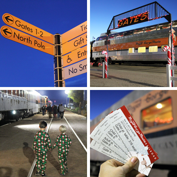 Santa Express Train Royal Gorge Route Railroad