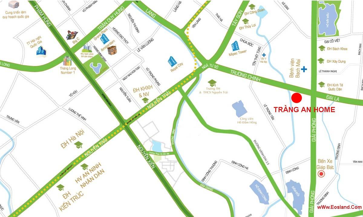 Vị trí Chung cư Tràng An Home 149 Trường Trinh