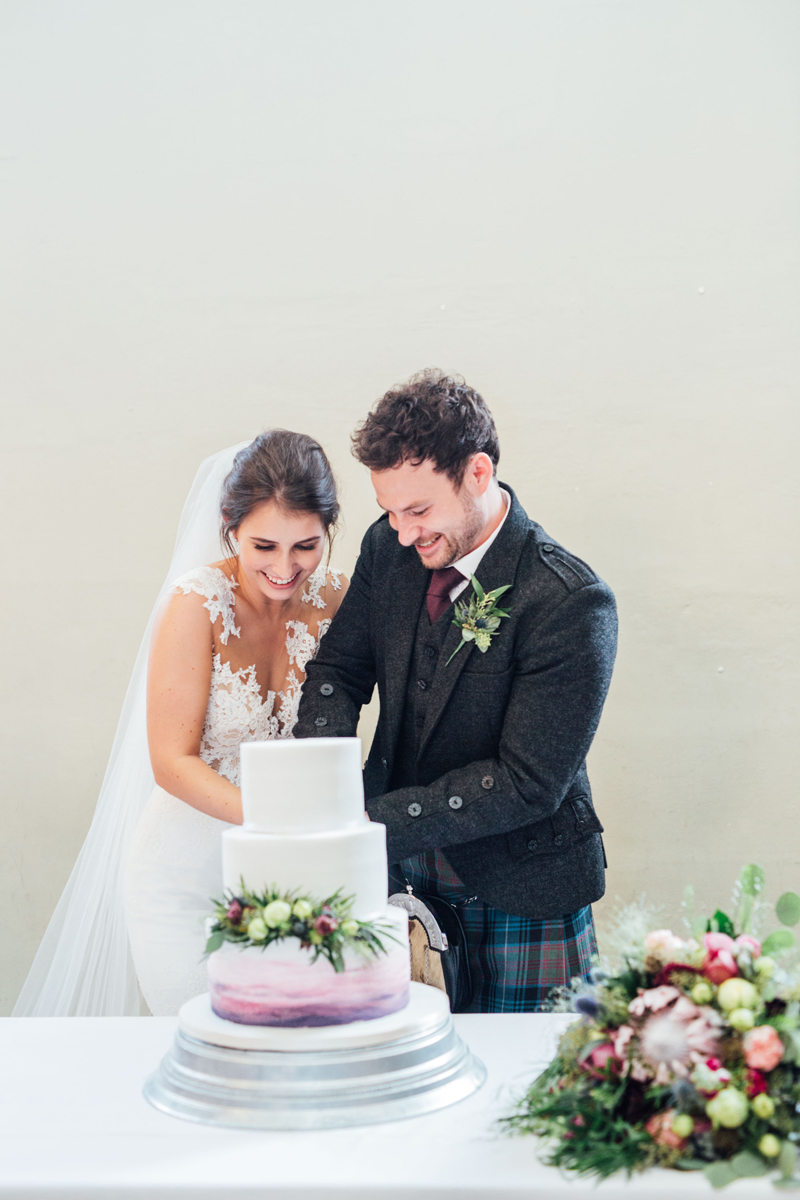 Traditional Pink and Purple Scottish Real Wedding
