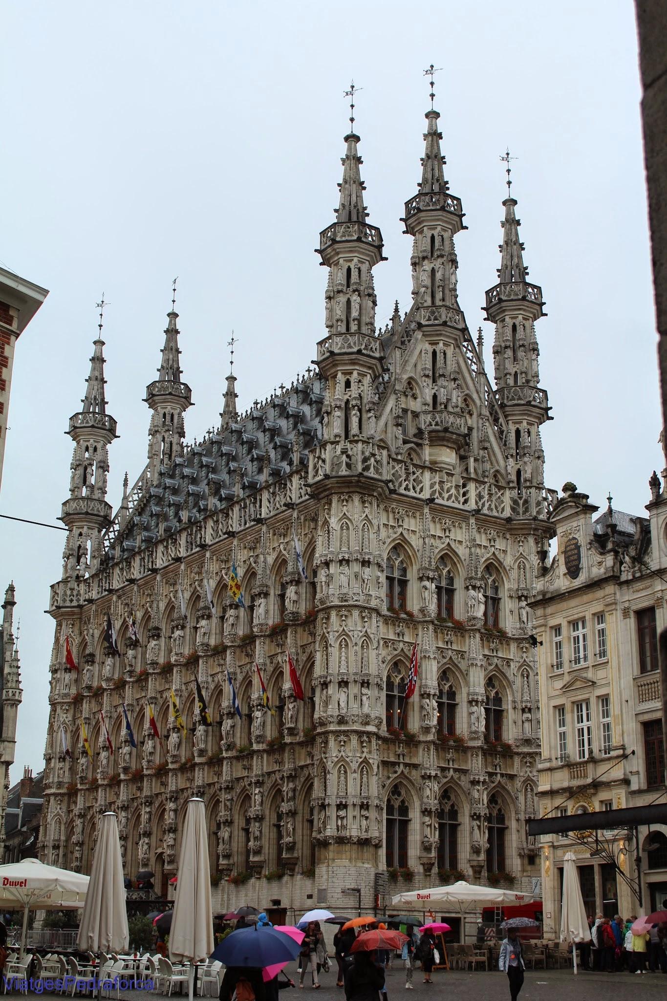 Ajuntament gòtic de Lovaina, Leuven, Flandes, Belgica