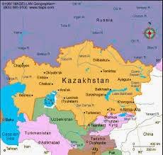 Peta Negara Kazhakstan