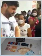 Homem é preso pela Polícia Militar tentando aplicar golpe dentro de agência bancária em Pedreiras.
