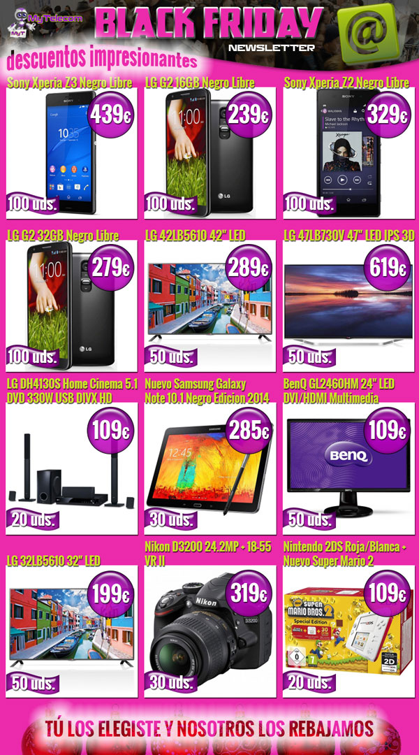newsletter blackfriday MyTelecom