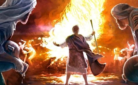 Elias e os Profetas de Aserá e Baal