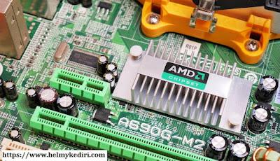 Cek bagian chipset motherboard
