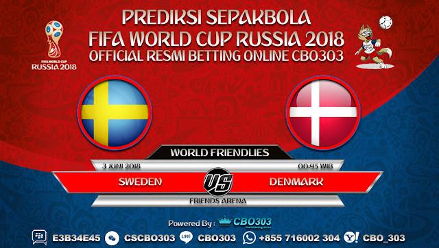 Prediksi Bola Sweden VS Denmark 03 Juni 2018