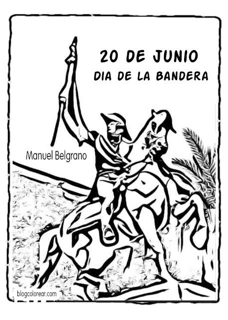 pintar monumento al General Manuel Belgrano