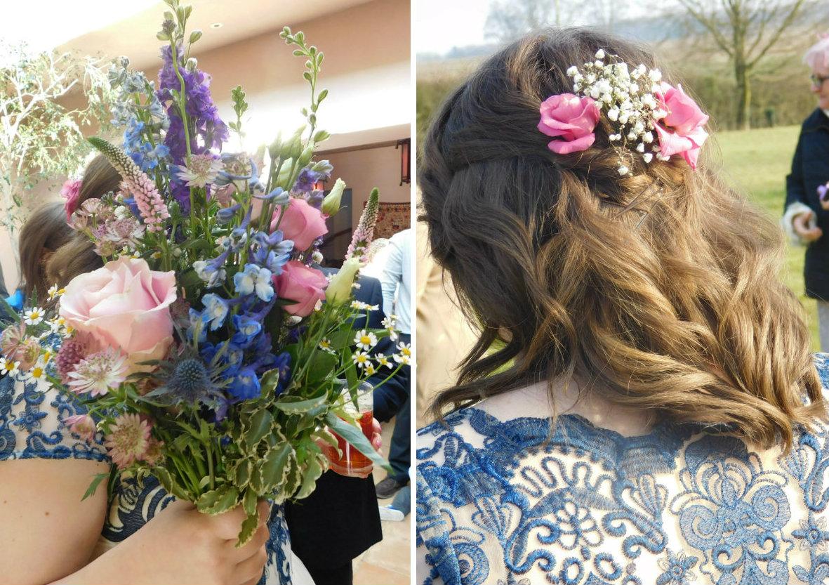 My bouquet & hair