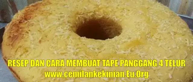 Resep Bolu Tape Panggang 4 Telur